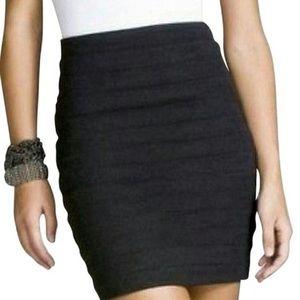 Express Black Ribbed Pencil Mini Skirt Sz 8